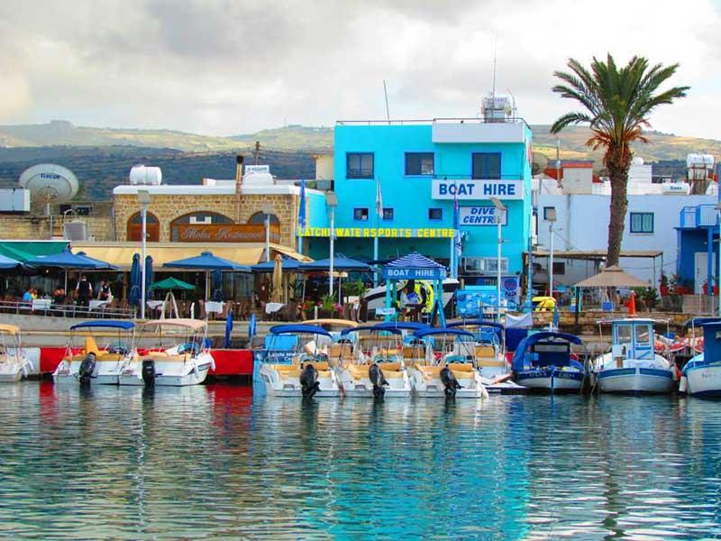 Latchi Marina, Cyprus with Latchi Watersports Centre