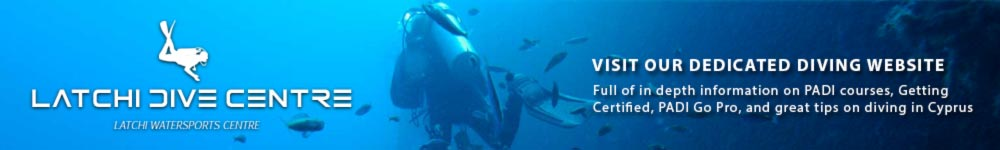 Visit Latchi Dive Centre, part of the Latchi Watersports Group, Cyprus