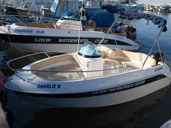 Boat Hire in Latchi, Paphos - Eden 18 70hp from Latchi Watersports Centre