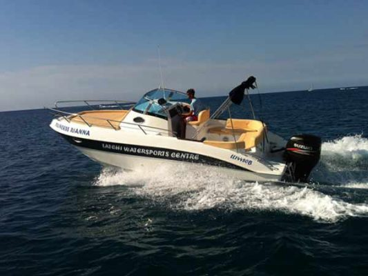 Boat Hire in Latchi, Paphos - Marinello 26 250hp Cabin from Latchi Watersports Centre