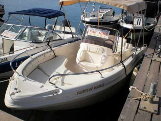 Boat Hire in Latchi, Paphos - Shark 80hp from Latchi Watersports Centre