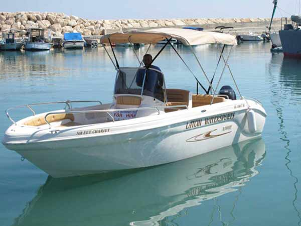 Boat Hire in Latchi, Paphos - Voyager 115hp from Latchi Watersports Centre
