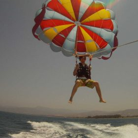 Parasailing in Cyprus with Latchi Watersports Centre, Latchi Marina