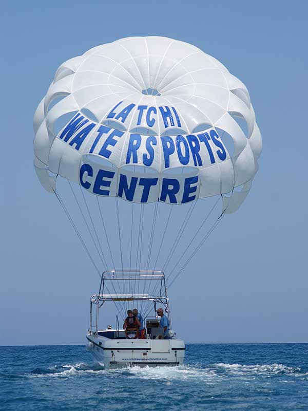 Parasailing Boat with Latchi Watersports Centre, Cyprus