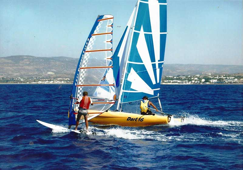 Sailing Dart 16 Catamaran Latchi Watersports Centre, Cyprus