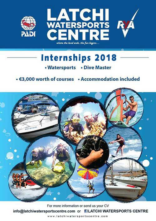 internship programme 2018 - Latchi Watersports Centre, Cyprus