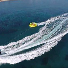 Tube rides, Sofa and banana rides at Latchi Watersports, Cyprus
