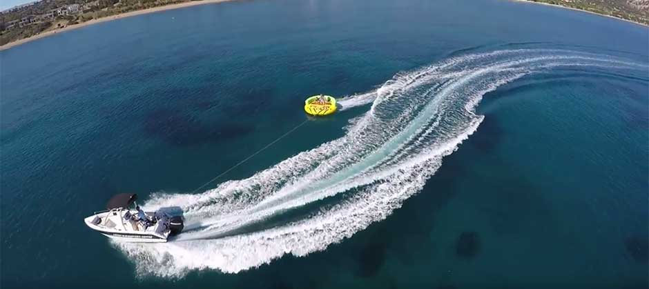 Tube rides, Sofa and banana rides at Latchi Watersports, Cyprus