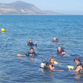 Family PADI open water course with Latchi Dive Centre