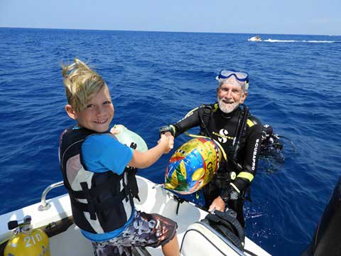 Ray Woolley World Record Breaking Diver at 93 years old with Latchi Dive Centre