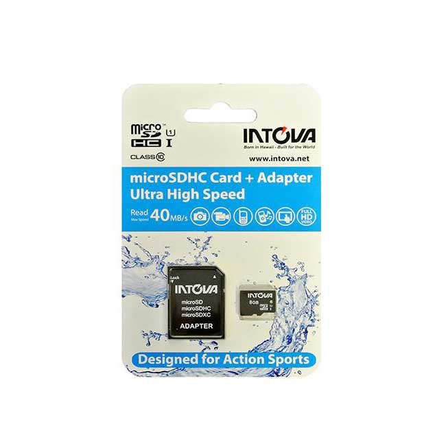 Intova 8GB microSDHC Card + Adapter (ultra high speed) - Latchi Watersports Centre