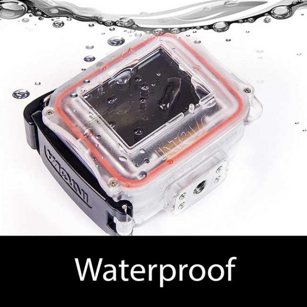 intova HD2 waterproof 8mp/1080p action camera with built in 150-lumen light and remote control.