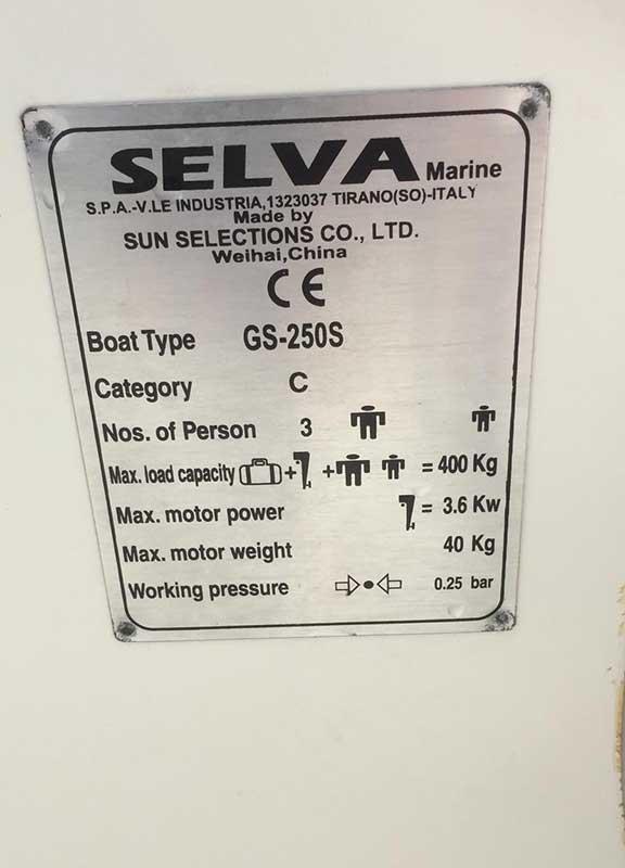 Selva Marine Dinghy GS-250S | Cyprus Boat Sales, Latchi Marine Services