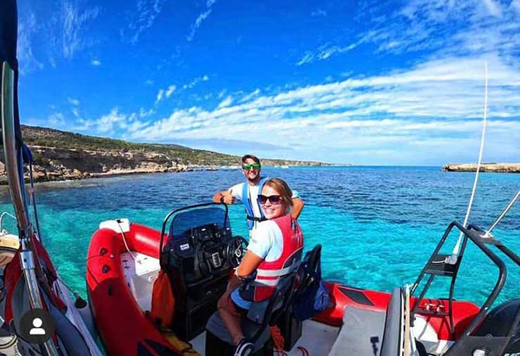 Latchi Watersports Centre Safety Boat in the Akamas Peninsula