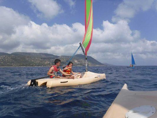 EU Erasmus Scheme - sailing with Latchi Watersports in Cyprus